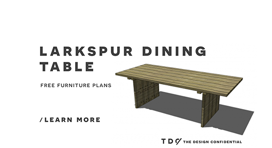 Free DIY Furniture Plans: How to Build a Larkspur Dining Table | The Design Confidential