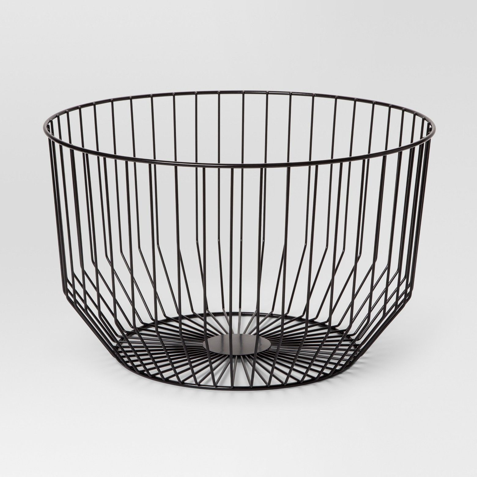 The simple, open frame of this Round Wire Basket from Project 62 ...