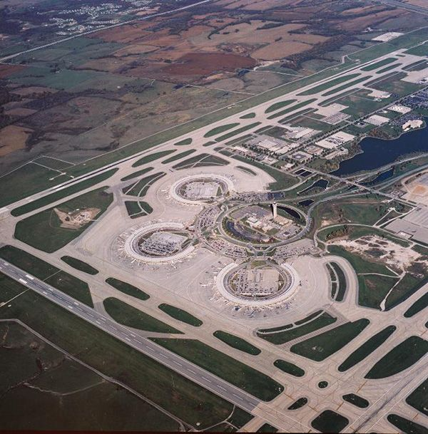 Kansas City International Airport Kci Http Www Airport Technology Com Projects Kansas City Inter Kansas City International Airport Airport Design Airport