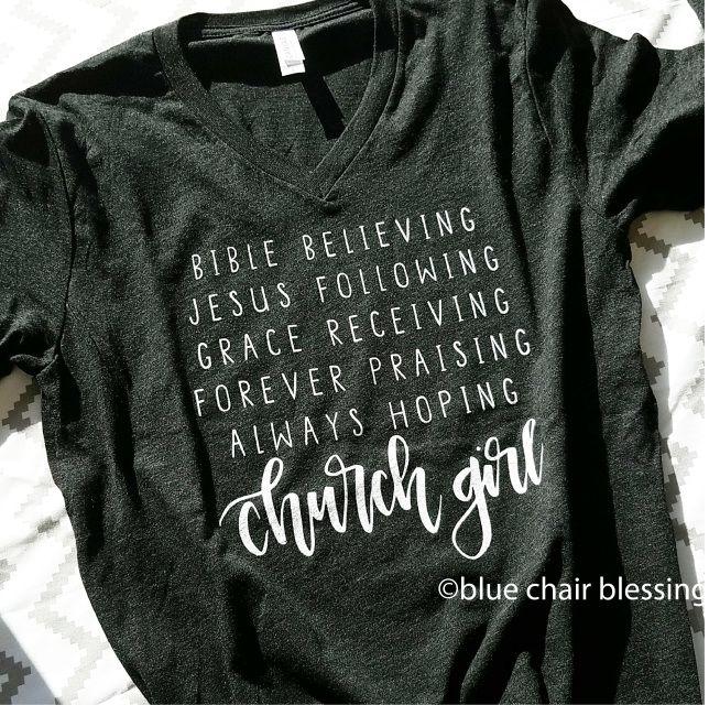 Size xs. Church Girl unisex v-neck t-shirt Charcoal Black