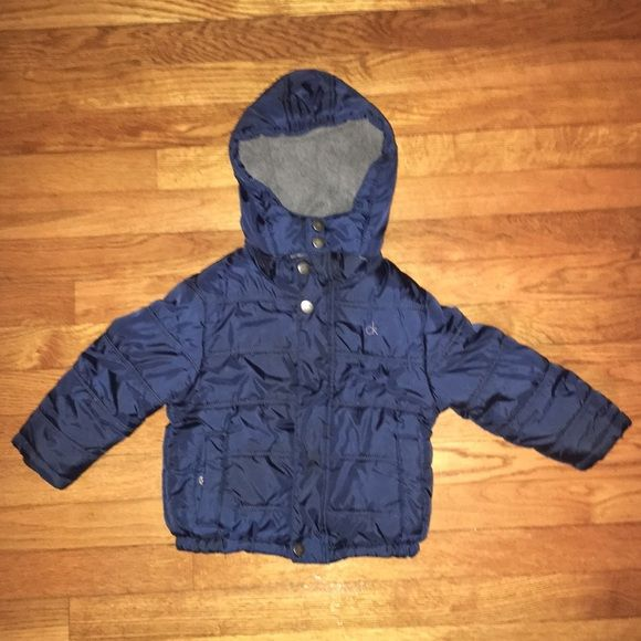 7bc89b03599f Calvin Klein Toddler Boy Winter Jacket Calvin Klein navy blue coat ...
