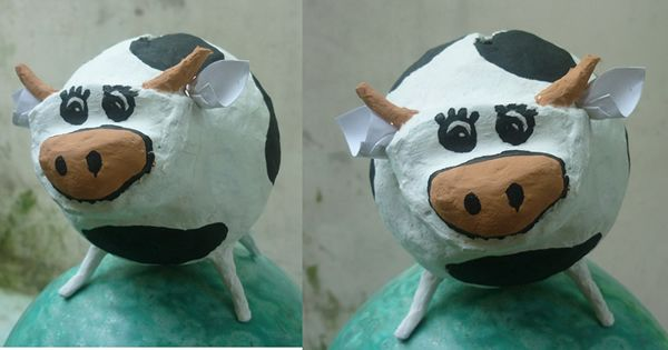 vaca hecha en papel