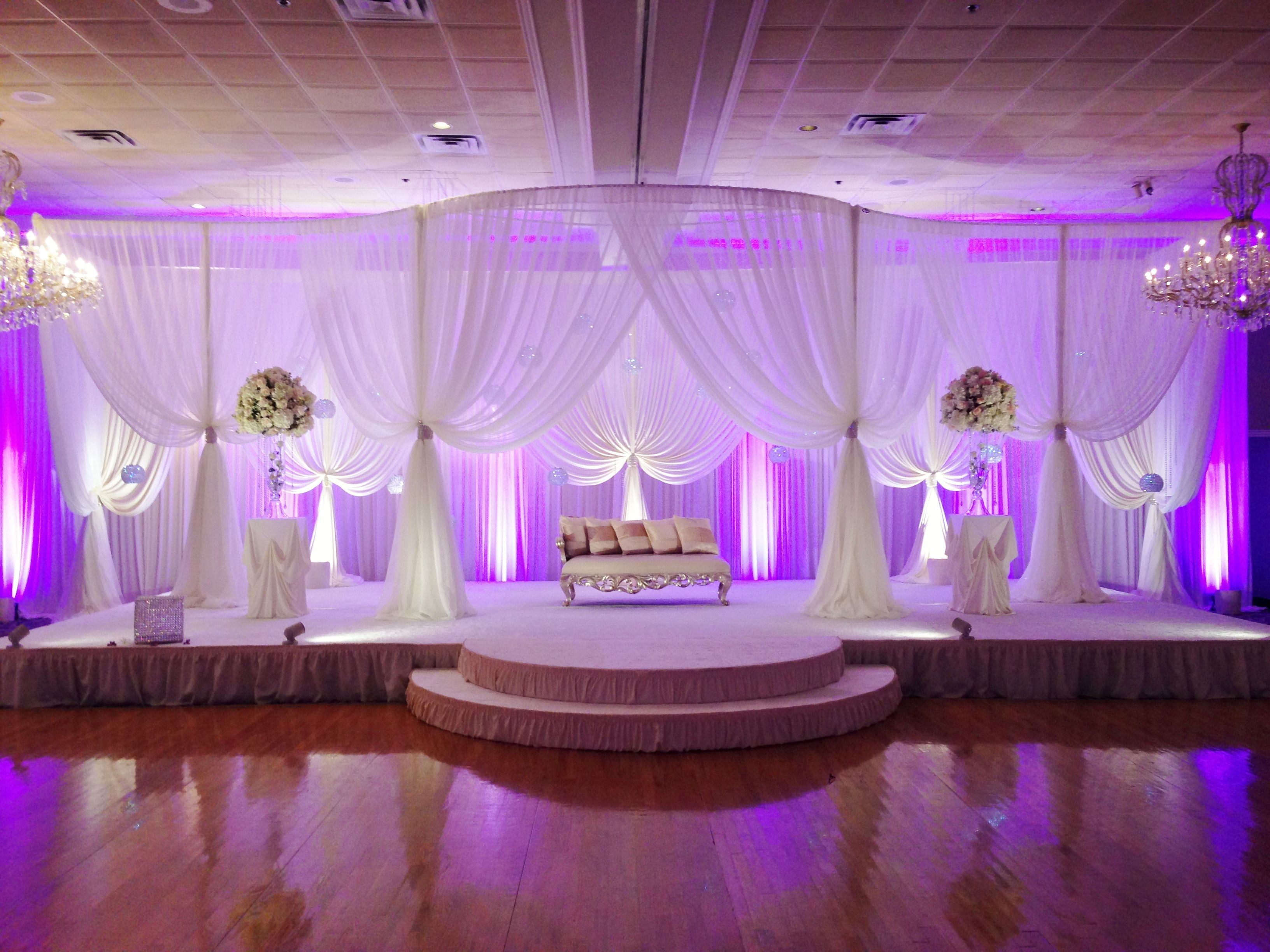 Nigerian wedding stage decoration  Pin by Magalie Leger on Drapes and Aisles decor  Pinterest