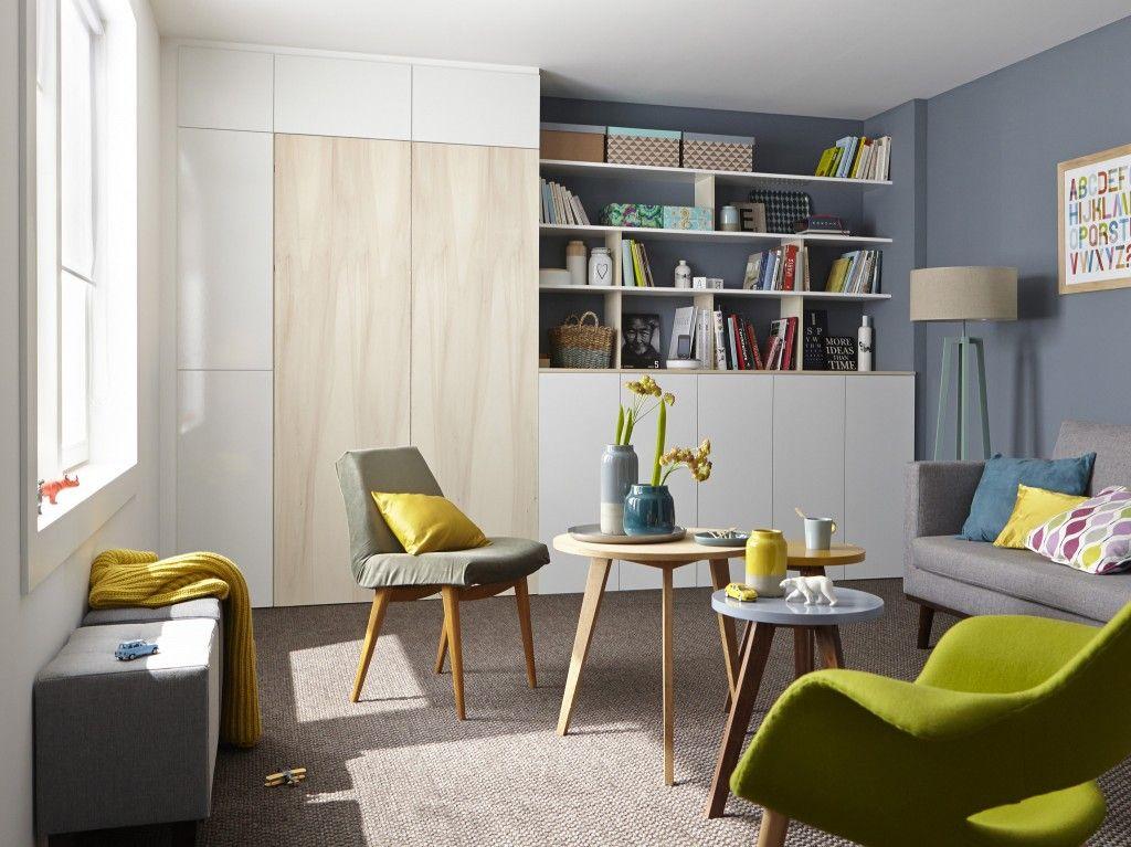 Catalogue leroy merlin : cacher son bureau dans un placard home