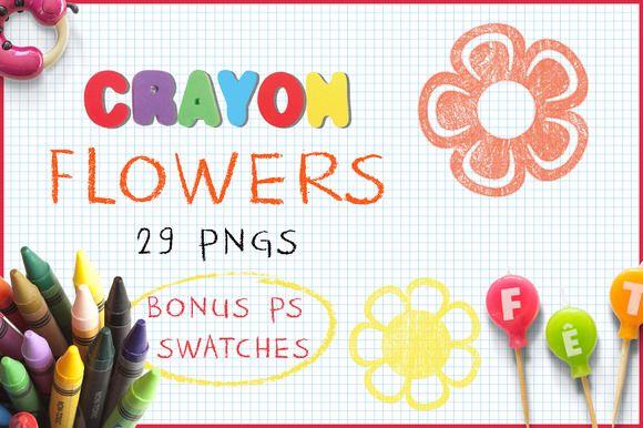 Download Crayon Flowers  @creativework247