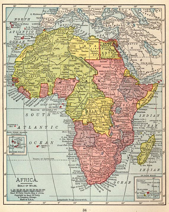 1926 Antique Africa Map Pretty Vintage Map Of Africa Gallery