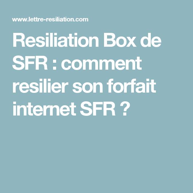 Resiliation Box De Sfr Comment Resilier Son Forfait