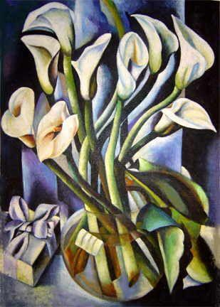 Tamara De Lempicka Calla Lilies Art Deco Illustration Calla Calla Lily