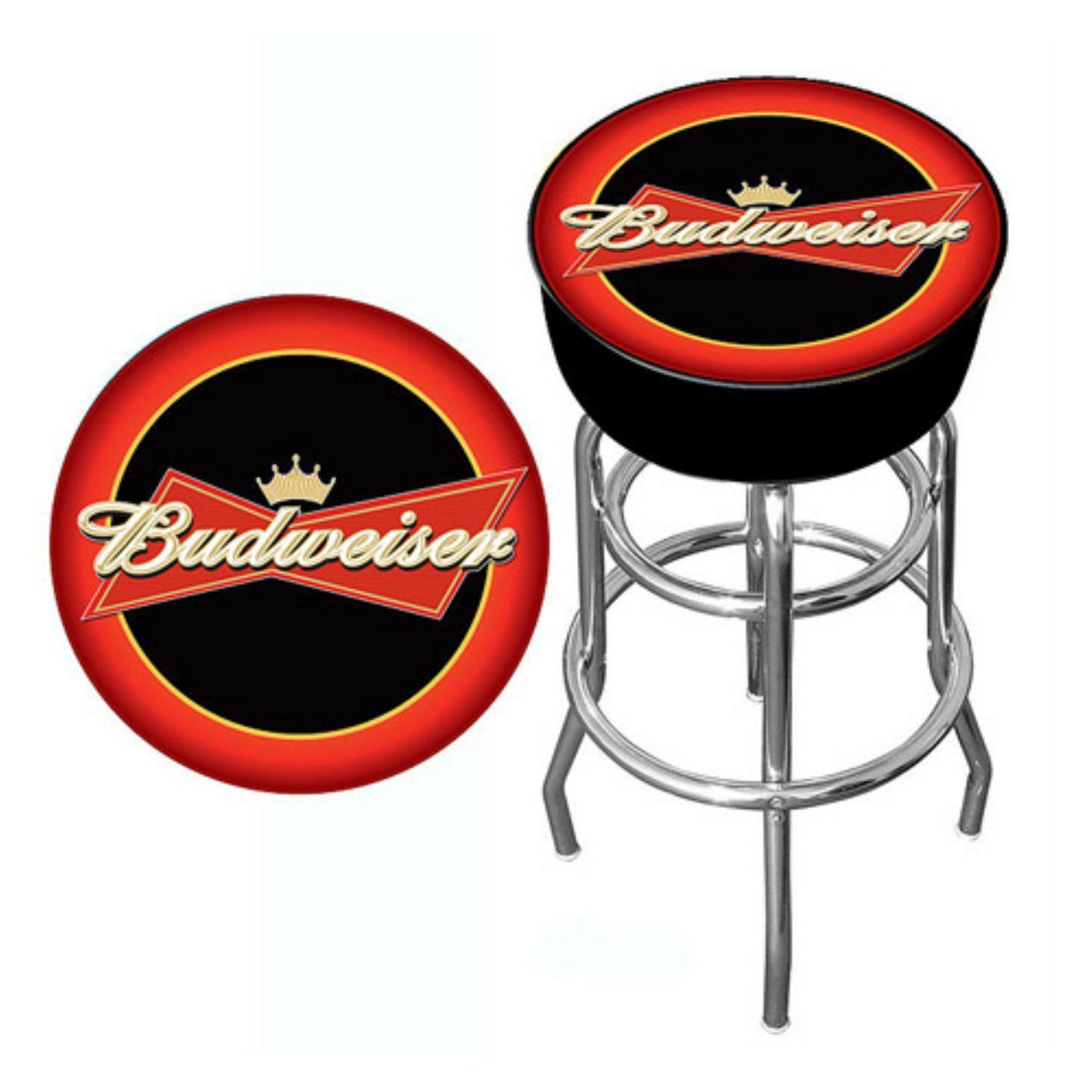 Trademark Budweiser Bar Stool Ab1000 Bud Bar Furniture For Sale Black Bar Stools Home Bar Furniture