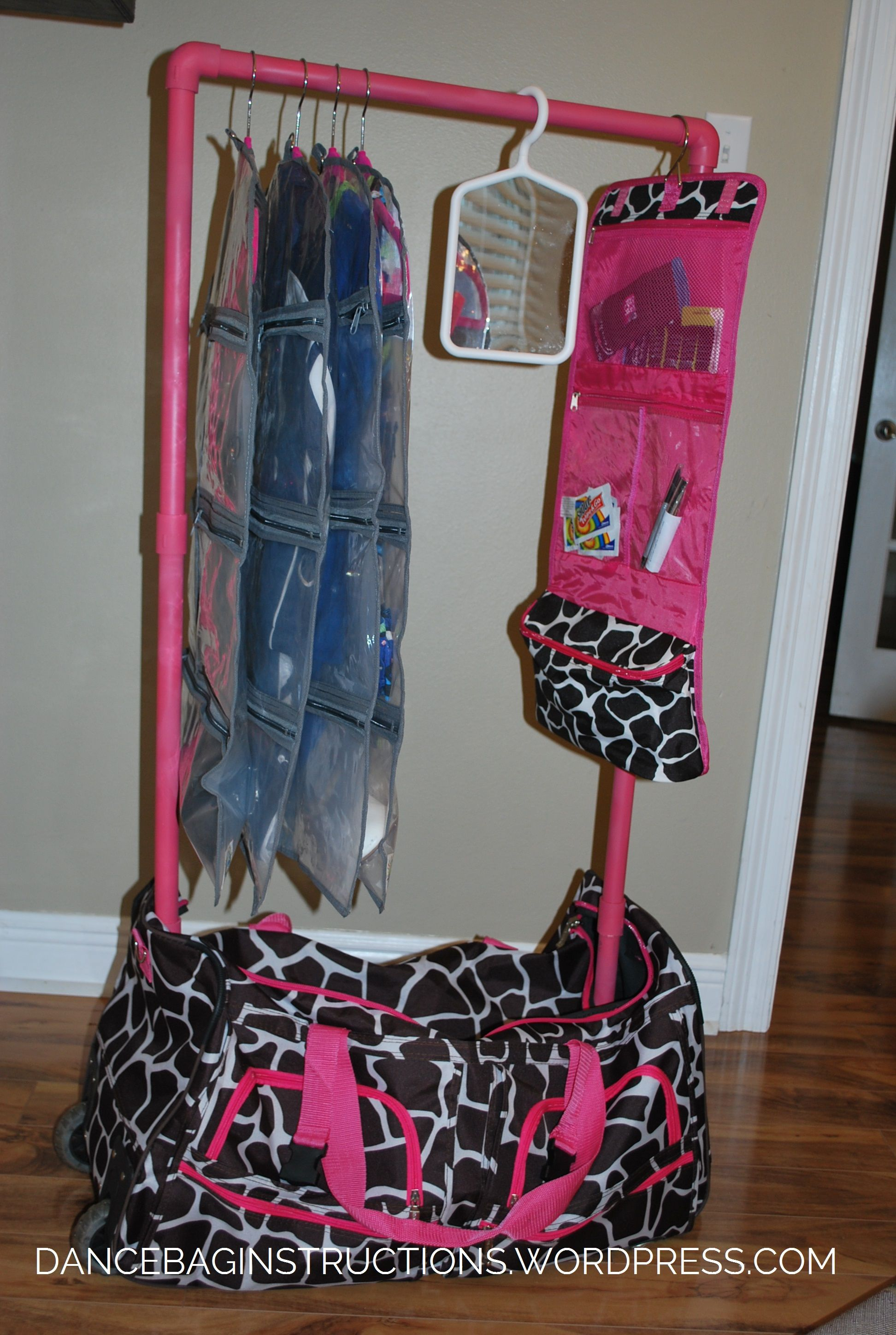 Dance Bag With Garment Rack Delectable How To Make Your Own Rolling Dance Bag With Garment Rack  Dancing Decorating Design