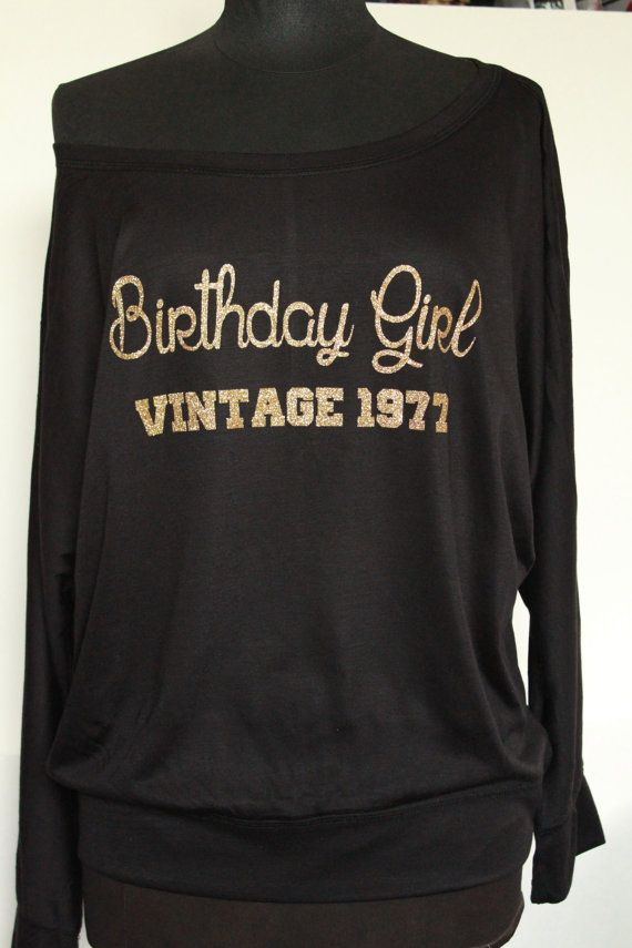 Birthday Girl Vintage1977 Shirt Top For Her Adult 40th Tank Gift Ideas