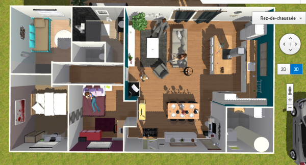plan maison 90m2 3d | Plan maison 90m2, Plan maison, Maison