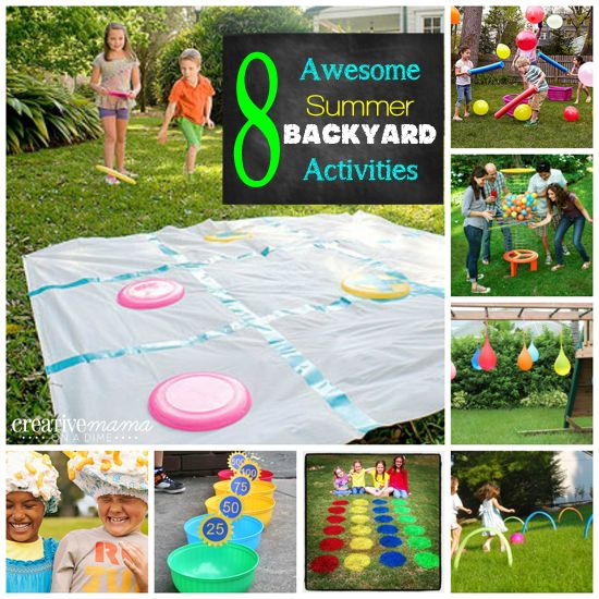 Creative Mama On A Dime 8 Awesome Summer Backyard Activites Backyard Activities Activities For Kids Summer Kids