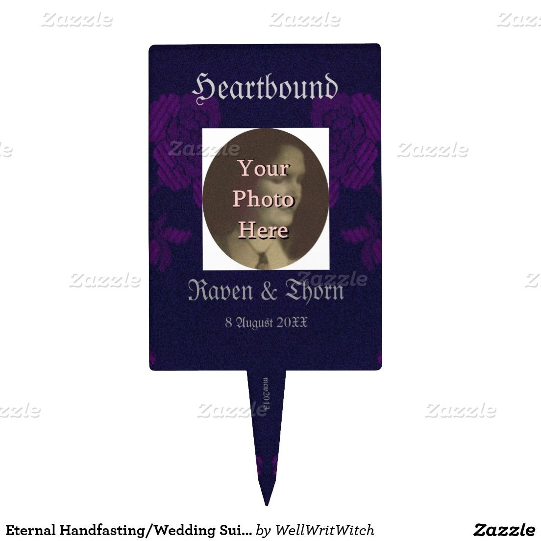 Eternal Handfasting/Wedding Suite Purple Cake Pick
