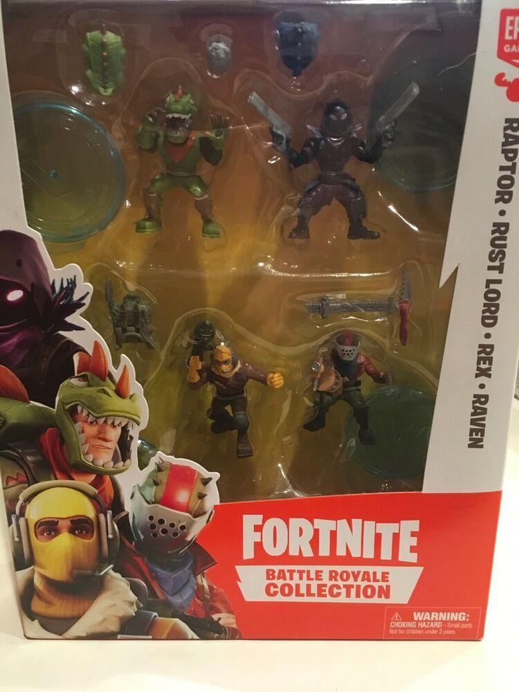 Raven Fortnite Ballle Royale Collection  Figur 5 cm Rabtor Rex Rust Lord