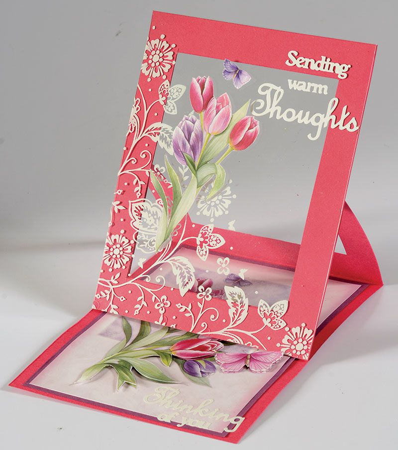 Handmade Card Sending Warm Thoughts Card Clear Acetate