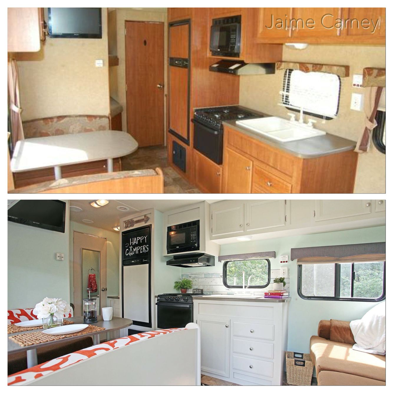 Small Trailer Remodel Very Light And Inviting Remodeled Campers Rv Remodel Trailer Remodel