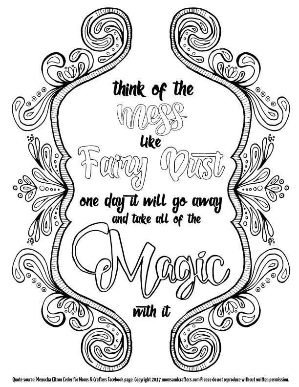 Think Of The Mess Coloring Page Download Witch Coloring Pages