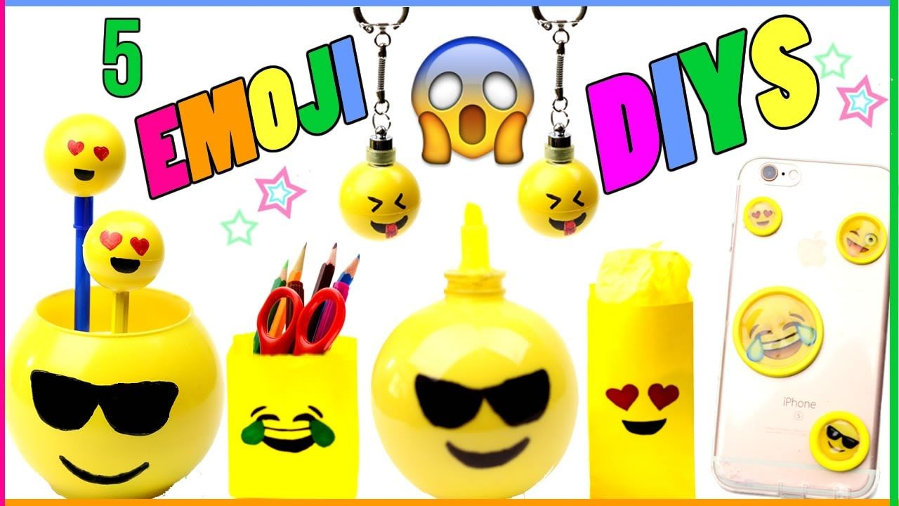 How To Make 5 Diy Emoji Projects That You Need To Try Learn How To Make An Emoji Phone Case Emoji Keychains Highlighter Emoji Craft Emoji Diy Diy Crafts