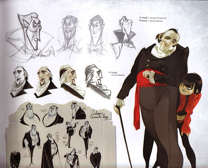Character Design Library : Living lines library hotel transylvania