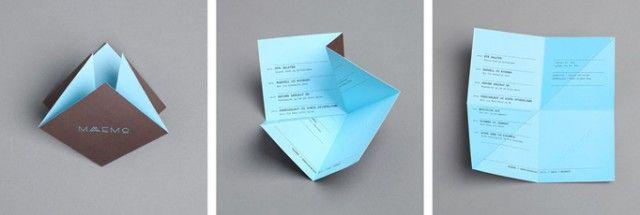 Another origami menu