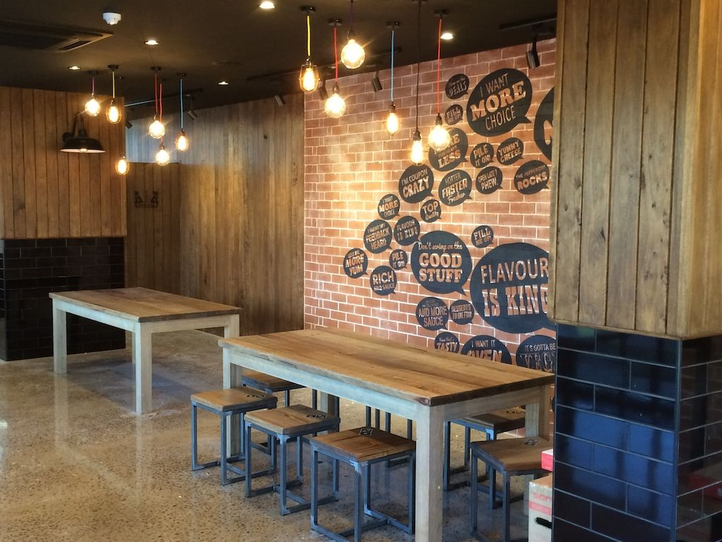 cne construction uses silvertop ash shiplap 110 cover for dominos cne construction uses silvertop ash shiplap 110 cover for dominos pizza lining inside the store