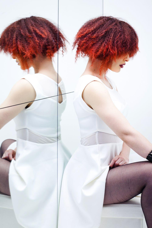 Rizo richiafro del cobre al rojo pasión cabellosidad pinterest
