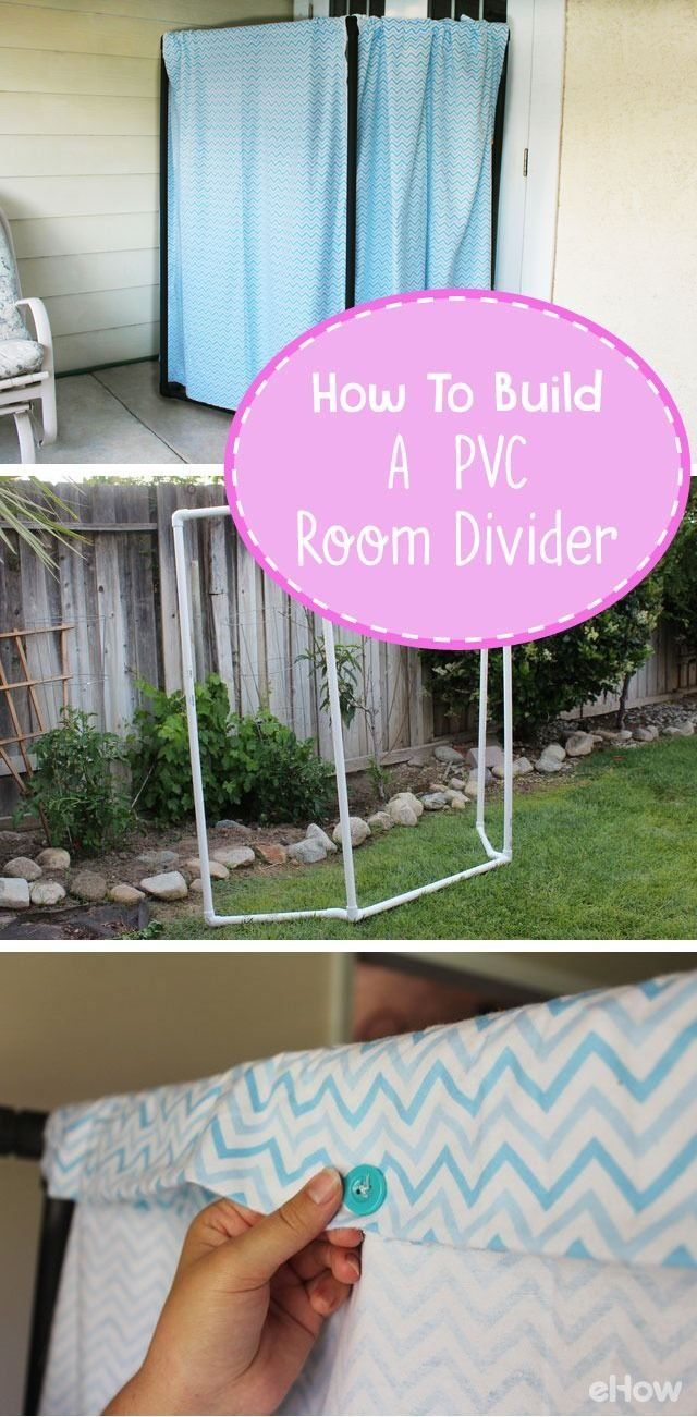need a room divider make one out of pvc pipes and some fabric for rh pinterest com