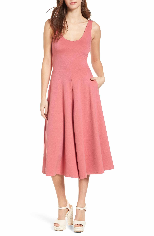 Leith Stretch Knit Midi Dress Nordstrom Dresses Knit Midi Dress Gorgeous Midi Dresses [ 3000 x 1956 Pixel ]