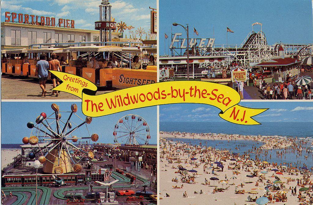 Wildwood By The Sea Boardwalk Postcard   Wildwood