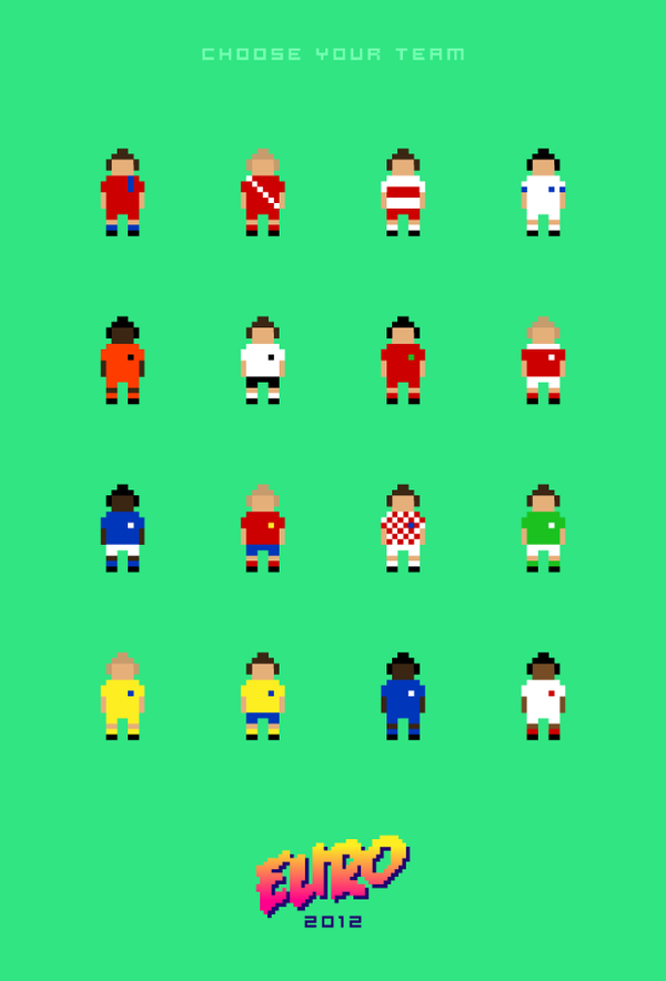 8-bit Euro 2012 poster by Andy Fox