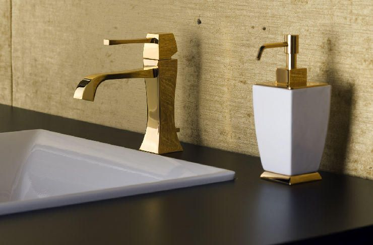Gessi Mimi faucet in gold. Reg. $2,895.00 CLEARANCE $1,447.50. While ...