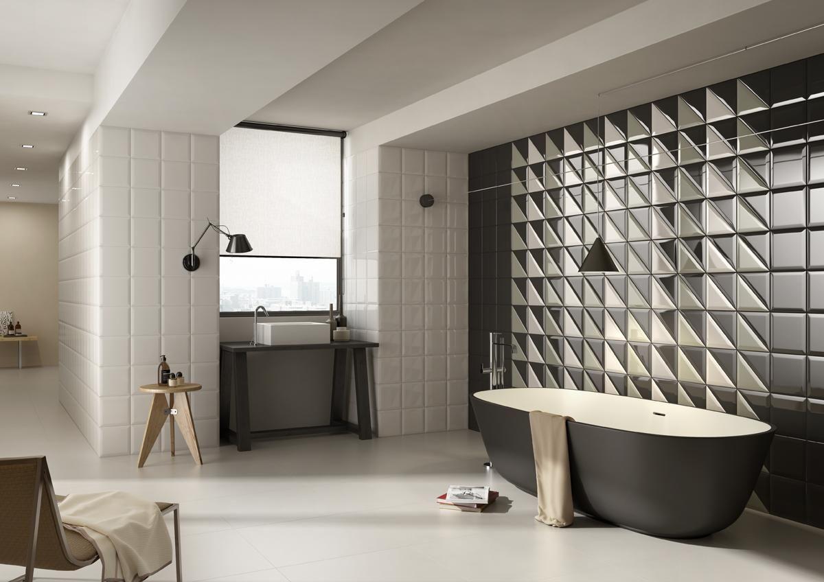 Piastrelle double bagno moderno ceramica bicottura imolaceramica