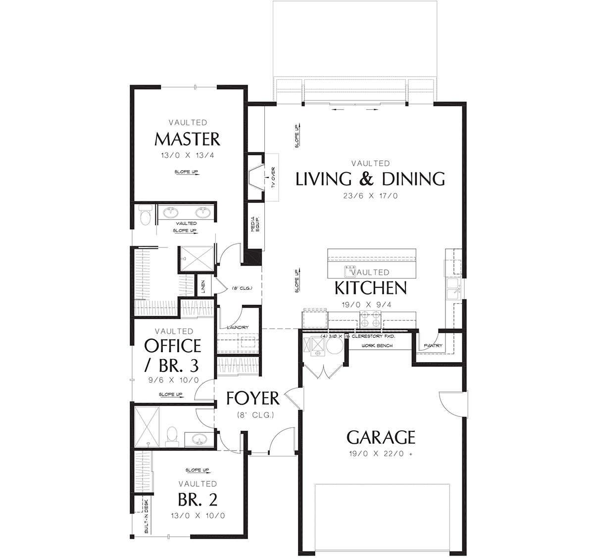 House Plan 2559 00676 Contemporary Plan 1 613 Square Feet 3 Bedrooms 2 Bathrooms Energy Efficient House Plans House Plans How To Plan