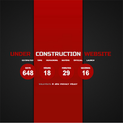 Ferrari Under Construction Free Responsive Html5 Css3 Mobileweb Template
