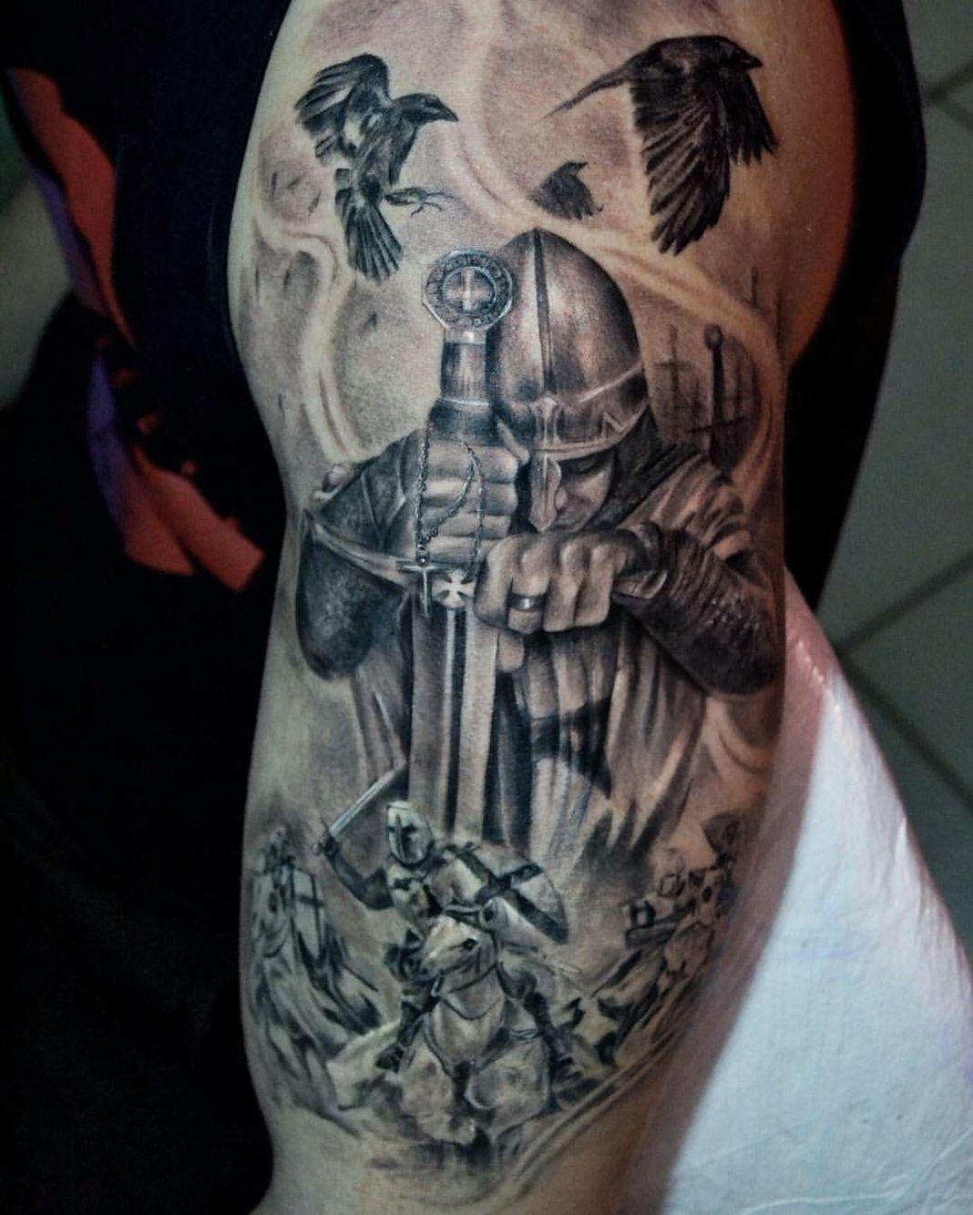 Templar Knight By @pedromullertattoo