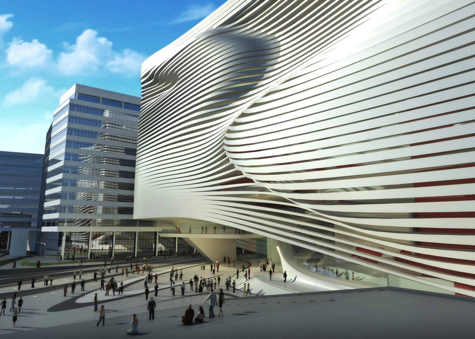 New dance and music centre the hague zaha hadid for House music structure
