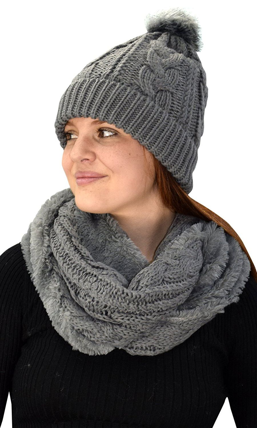 10af6aba476 ... Hat Plush Infinity Loop Scarf 2 Pack. Find this Pin and more on Online  Sale by alyssabrianna30. Sale Price     14.95.....Grey 97 Cable Knit Weave  Beanie