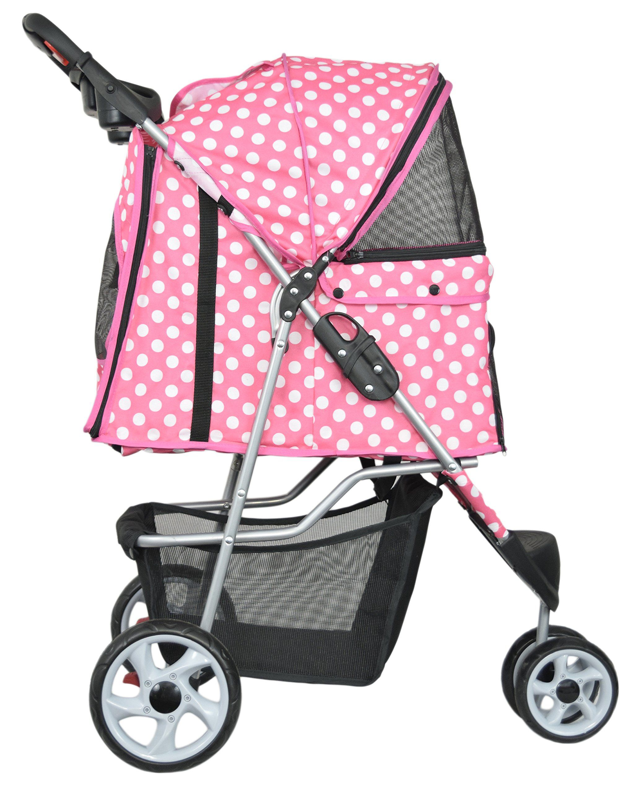 VIVO Three Wheel Pet Stroller for Cat Dog and More