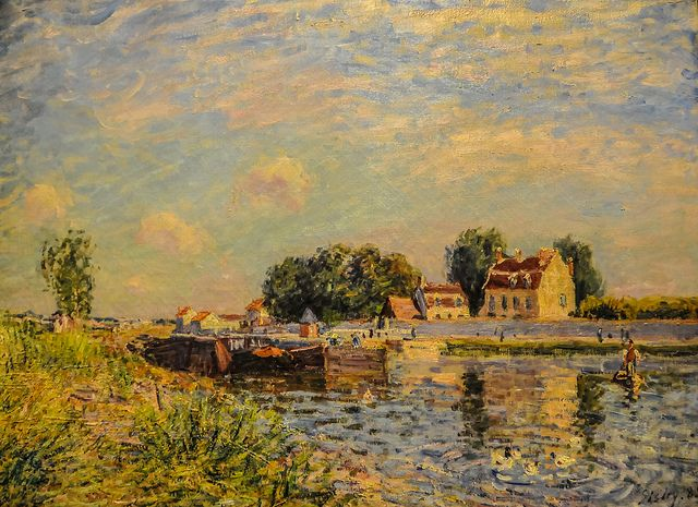 Alfred Sisley - The Canal at Saint-Mammes, 1885 at the Museum of Art Philadelphia PA | Flickr - Photo Sharing!