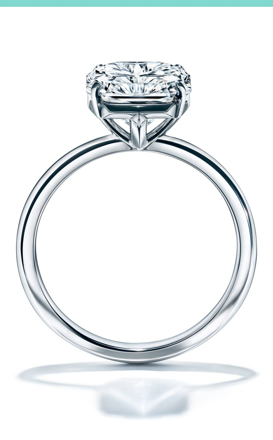 ce2656f8a Architectural and discreetly hallmarked with a T-shaped detail in the  setting, the Tiffany True engagement ring is an embodiment of all that  Tiffany stands ...