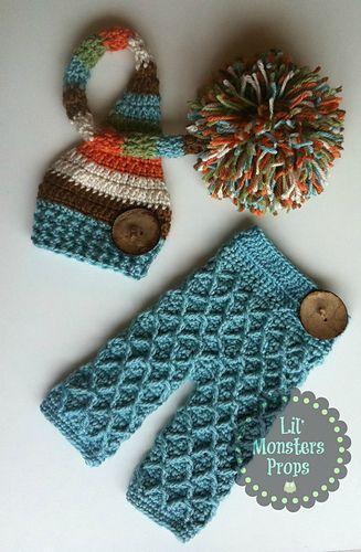 Crochet Waffle Gaufre Pants pattern by La tienda de Paloma | Tejido ...