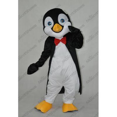 Mascotte de pingouin prince blanc noir jaune dégui...  eb7f15a8bbf