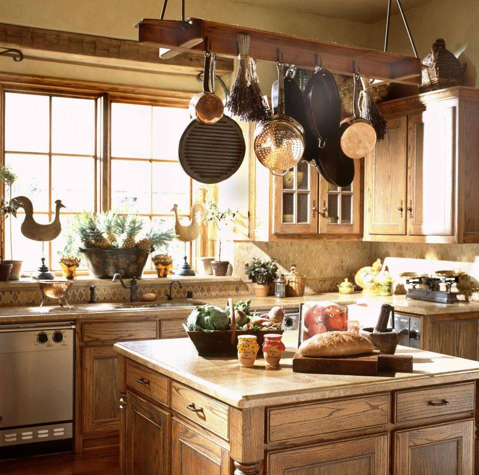 Multiple Small Square Islands Amp Hanging Pots Kitchen