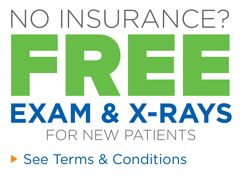 P New Patients Without Dental Insurance Receive A Free Exam And X Rays On Their First Visit Offer Must Be Presented A Dental Check Up Dental Dental Insurance