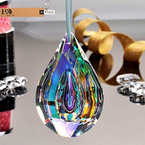 Chandelier Rainbow Maker Glass Crystal Lamp Prisms Hanging Drops Pendants 76mm