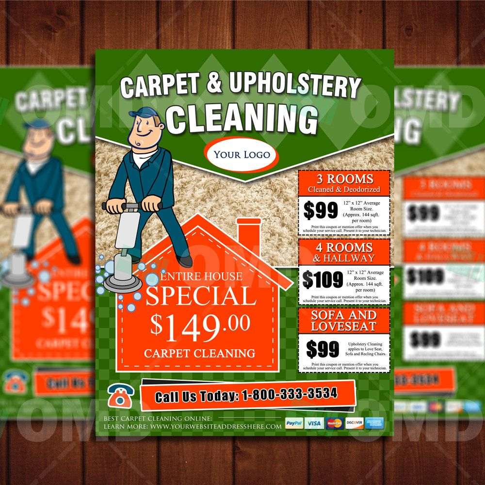 Cool Carpet Cleaning 8.5 X 11 Flyer Design - Professional Business