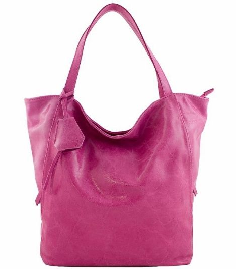 def613fc3c95 Napa Leather Handbags Etasico Verona Italian Fuchsia Magenta Bag - Stunning  color with stressed leather fashion - Handmade in Italy designer Shopper  Tote ...