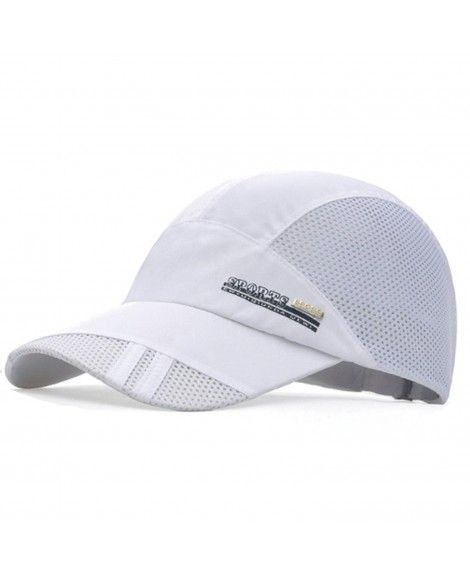 dabe7d9c6fe Quick Dry Sports Hat Lightweight Breathable Soft Outdoor Running Cap -  Classic Series- White