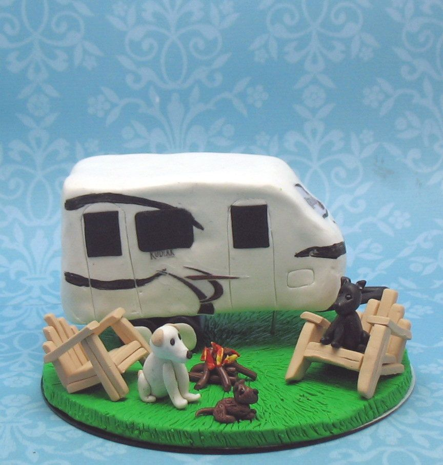 Camping Wedding Ideas: Camping Theme Wedding Cake Topper. $20.00, Via Etsy